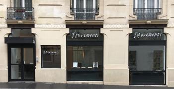 Vue de l'extérieur de la librairie-galerie Mouvements-ruevisconti